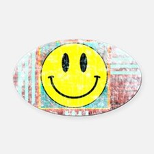 Cute Cool smiley faces Oval Car Magnet
