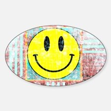 Unique Yellow smiley face Decal