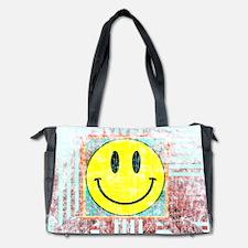 Smiley Face Vintage Diaper Bag