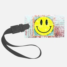 Smiley Face Vintage Luggage Tag
