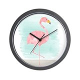 Cute flamingo Basic Clocks