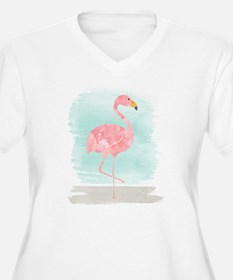 Beach Flamingo Plus Size T-Shirt