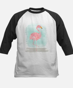Beach Flamingo Baseball Jersey