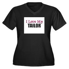 I Love My TAILOR Women's Plus Size V-Neck Dark T-S