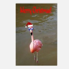 Christmas Flamingo Postcards (Package of 8)