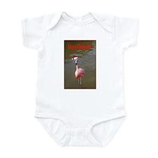 Christmas Flamingo Infant Bodysuit