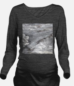 abstract grey marble Long Sleeve Maternity T-Shirt
