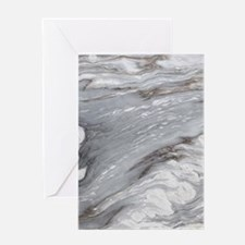 abstract grey marble swirls Greeting Cards