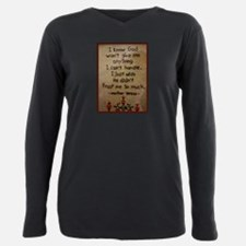 Funny Faith Plus Size Long Sleeve Tee