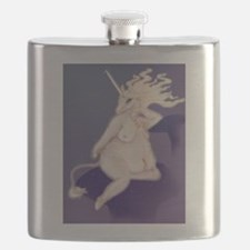Unicorn Pinup Flask