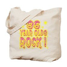 86 Year Olds Rock ! Tote Bag