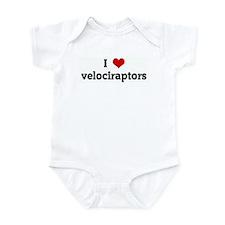 I Love velociraptors Infant Bodysuit