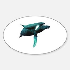 Cute Whale Sticker (Oval)