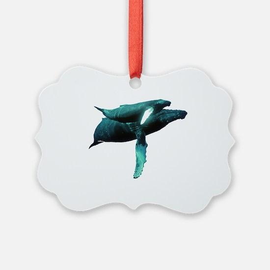 Cute Whales Ornament