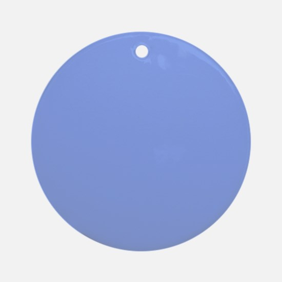Periwinkle Blue Solid Color Round Ornament