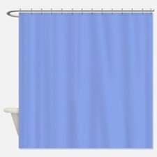 Periwinkle Blue Solid Color Shower Curtain