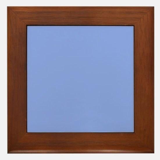 Periwinkle Blue Solid Color Framed Tile