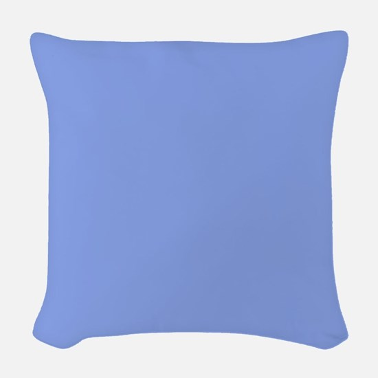 Periwinkle Blue Solid Color Woven Throw Pillow