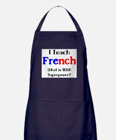 teach french Apron (dark)