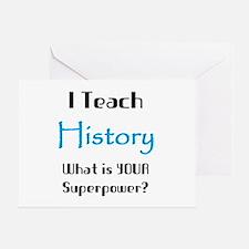 teach history Greeting Card