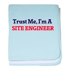 Trust me, I'm a Site Engineer baby blanket
