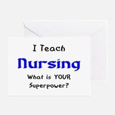 teach nursing Greeting Card