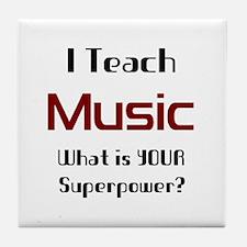 teach music Tile Coaster