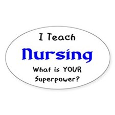teach nursing Decal