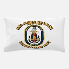 USS Jason Dunham - DDG-109 w Txt Pillow Case