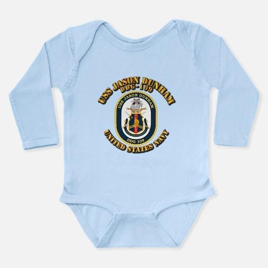 USS Jason Dunham - DDG Long Sleeve Infant Bodysuit