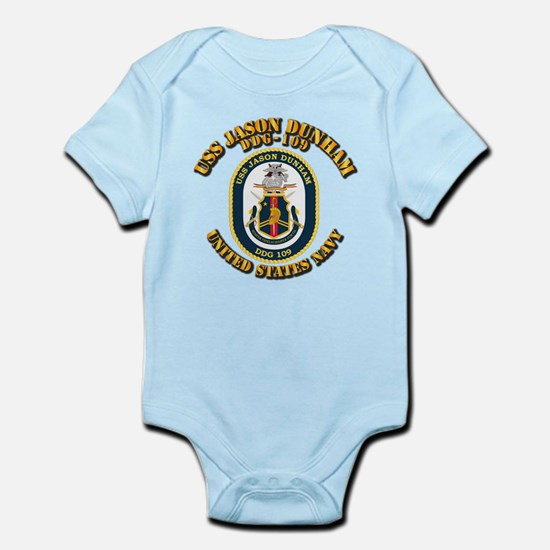 USS Jason Dunham - DDG-109 w Txt Infant Bodysuit