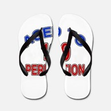 100 Aged To Perfection Flip Flops
