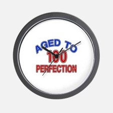 100 Aged To Perfection Wall Clock