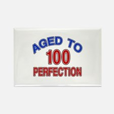 100 Aged To Perfection Rectangle Magnet