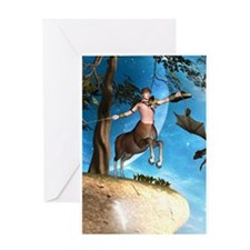 Awesome centaur with arrow and bow Greeting Cards