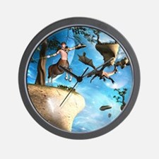 Awesome centaur with arrow and bow Wall Clock