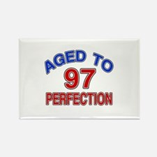 97 Aged To Perfection Rectangle Magnet