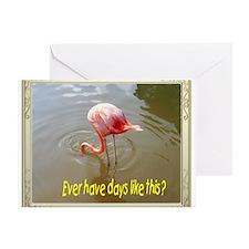 Bad day flamingo Greeting Card