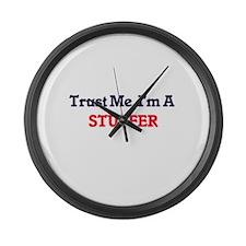 Trust me, I'm a Stuffer Large Wall Clock
