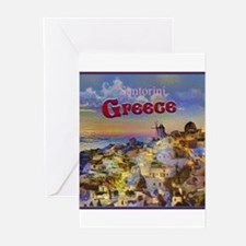 Santorini Greece Greeting Cards