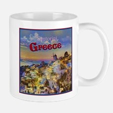 Santorini Greece Mugs