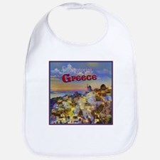 Santorini Greece Bib