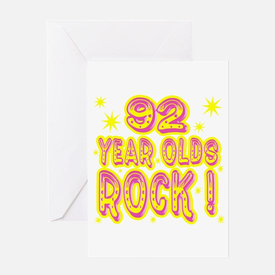 92 Year Olds Rock ! Greeting Card
