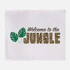 Welcome To Jungle Throw Blanket