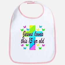 CHRISTIAN 15TH Bib