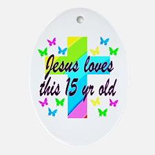 CHRISTIAN 15TH Oval Ornament