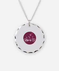 Tandem Bicycle Necklace