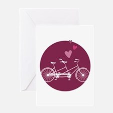 Tandem Bicycle Greeting Cards