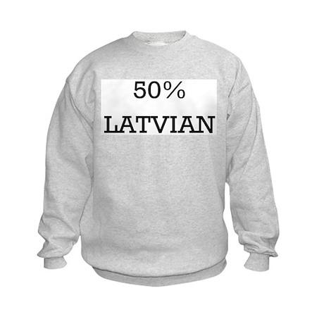 50% Latvian Kids Sweatshirt