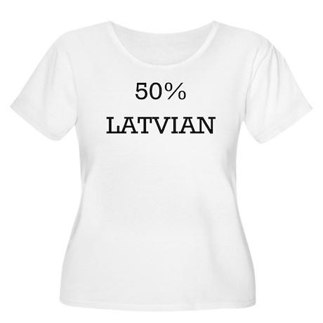 50% Latvian Women's Plus Size Scoop Neck T-Shirt